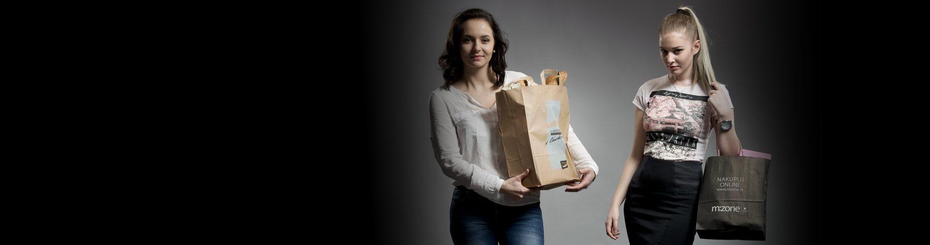 Proměňte **papírové tašky** v chodící reklamu